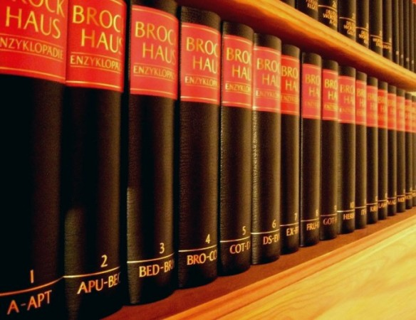 Ein Teil der Brockhausenzyklopädie